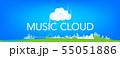 ミュージッククラウドイラスト 55051886