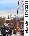 Moscow Kremlin day New Year panorama 55052288