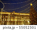 Moscow City Light with holiday new year decorations 55052301