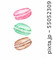 Watercolor Macaroon Cake illustration isolated on white background 55052309