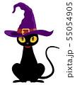黒猫(ハロウィン素材) 55054905