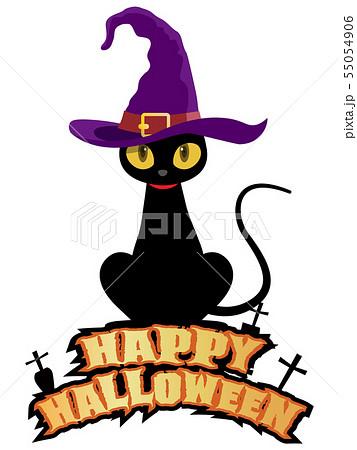 黒猫(ハロウィン素材) 55054906