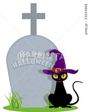 黒猫(ハロウィン素材) 55054908