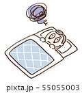 不眠 不調 イラスト 55055003