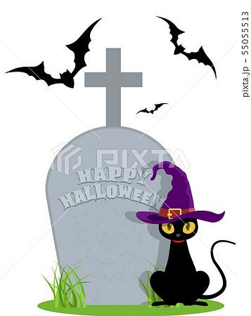 黒猫(ハロウィン素材) 55055513