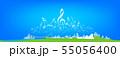 ミュージッククラウドイラスト 55056400