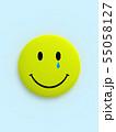 CG 3D イラスト 立体 デザイン バックグラウンド スマイル 笑顔 ピース マーク アイコン 55058127