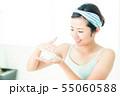洗顔 クレンジング ビューティー 女性 スキンケア ビューティ 若い女性 美容 55060588