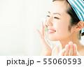 洗顔 クレンジング ビューティー 女性 スキンケア ビューティ 若い女性 美容 55060593