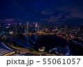 シンガポールの夜景 55061057
