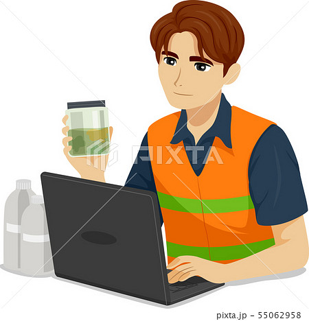 Teen Boy Environmental Engineer Illustration 55062958