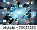 通信 ネットワーク デジタルの写真 55065853