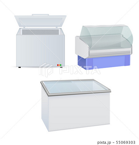 Freezer and refrigerator. Freezer with glass door 55069303