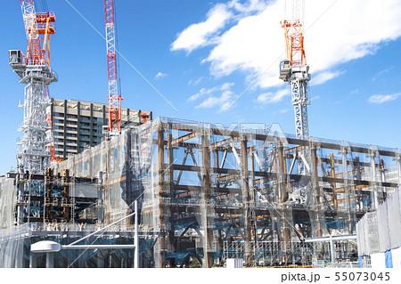 マンション・ビルの建設現場 55073045