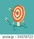 Abstract target flat design icon illustration 55078722