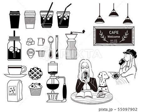 カフェのイラスト 55097902