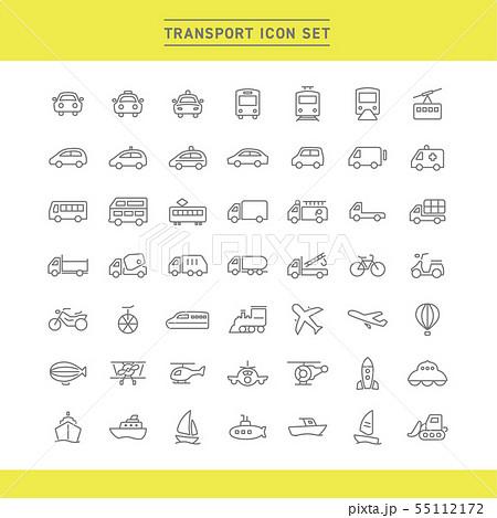 TRANSPORT ICON SET 55112172