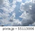 夏の稲毛海浜公園の青空と白雲 55113006