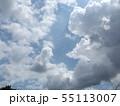 夏の稲毛海浜公園の青空と白雲 55113007
