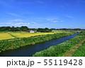 物井駅から佐倉駅間の総武本線車窓からの沿線風景 55119428
