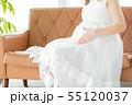 妊婦 お腹 赤ちゃんの写真 55120037