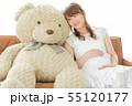 女性 妊婦 赤ちゃんの写真 55120177