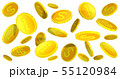 3D dollar coins background 55120984