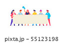 Group People use gadgets. set of icons 55123198