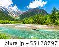 《長野県》新緑の上高地・岳沢と梓川 55128797
