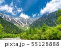 《長野県》新緑の上高地・岳沢 55128888