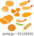 揚げ物、惣菜のイラストセット 55129920