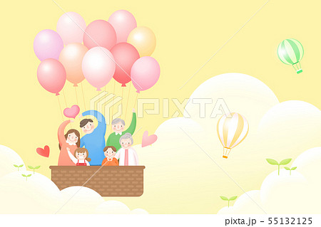 Harmony family, illustration of loving families 011 55132125