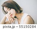 若い女性のヘアスタイルイメージ  55150284