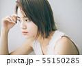 若い女性のヘアスタイルイメージ  55150285