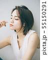 若い女性のヘアスタイルイメージ  55150291