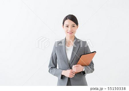 働く女性 グレースーツ  55150338