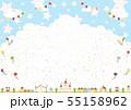 紙吹雪 テーマパーク 入道雲 55158962
