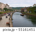小樽,北海道,運河,運河クルーズ,初夏,曇り,観光地, 55161451
