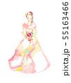 ドレス、赤とピンク 55163466