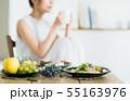 若い女性(食事) 55163976