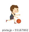 バスケットボール 男性 55167802