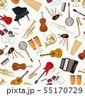 Jazz musical instruments seamless pattern 55170729