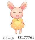 笑顔のうさぎ 55177791