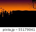 背景-秋-ハロウィン-オレンジ 55179041
