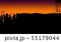 背景-秋-ハロウィン-オレンジ 55179044
