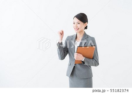 働く女性 グレースーツ  55182374
