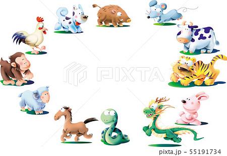 十二支の動物イラスト 55191734