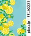 レモンの実とレモン葉のフレーム 55192223