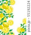 レモンの実とレモン葉のフレーム 55192224