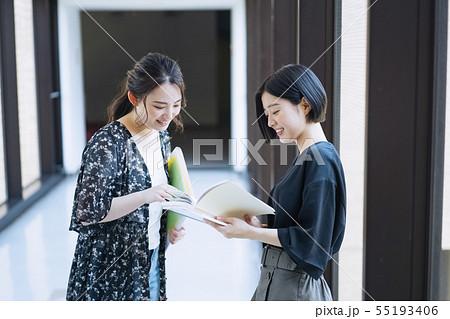 女性 大学生 キャンパスライフ 撮影協力:恵泉女学園大学 55193406